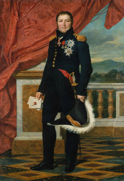 Painting - Portrait Of French Politician And Soldier Etienne Maurice Gerard by Jacques-Louis David