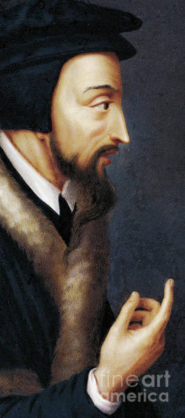 Theorist Wall Art - Painting - Portrait Of French Theologian And Religious Reformer, John Calvin  by Henriette Rath