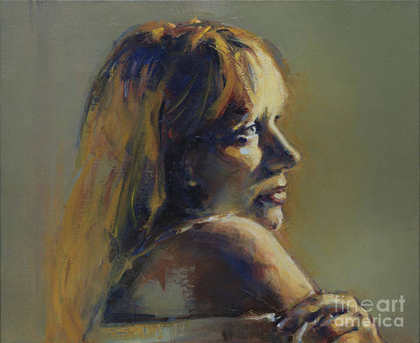 Painting - Portrait Of Galina by Ritchard Rodriguez