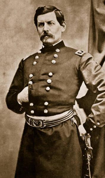 Brinton Photograph - Portrait Of General George B Mcclellan by Matthew Brady