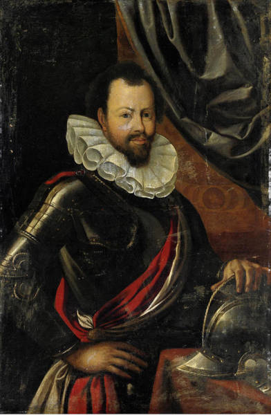 Cesare Painting - Portrait Of Gentleman With Armor by Follower of Cesare Aretusi