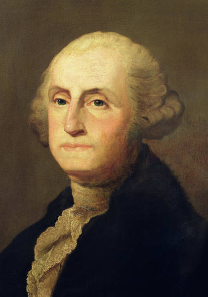 Patriotism Painting - Portrait Of George Washington by Gilbert Stuart