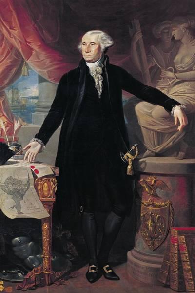 Wall Art - Painting - Portrait Of George Washington by Joes Perovani