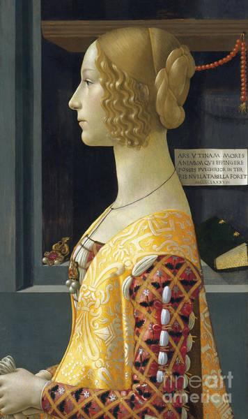 Wall Art - Painting - Portrait Of Giovanna Degli Albizzi Tornabuoni by Domenico Ghirlandaio