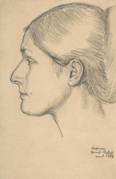 Drawing - Portrait Of Hortense Valpincon by Edgar Degas