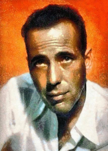 Digital Art - Portrait Of Humphrey Bogart by Charmaine Zoe