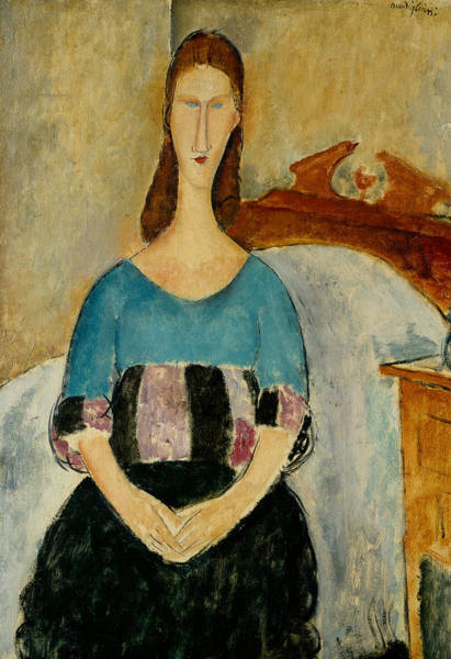 Painting - Portrait Of Jeanne Hebuterne by Amedeo Modigliani