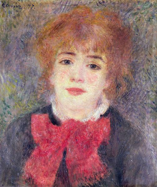Jeanne Wall Art - Painting - Portrait Of Jeanne Samary by Renoir