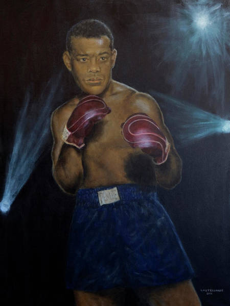 Wall Art - Painting - Portrait Of Joe Louis by Sylvia Castellanos