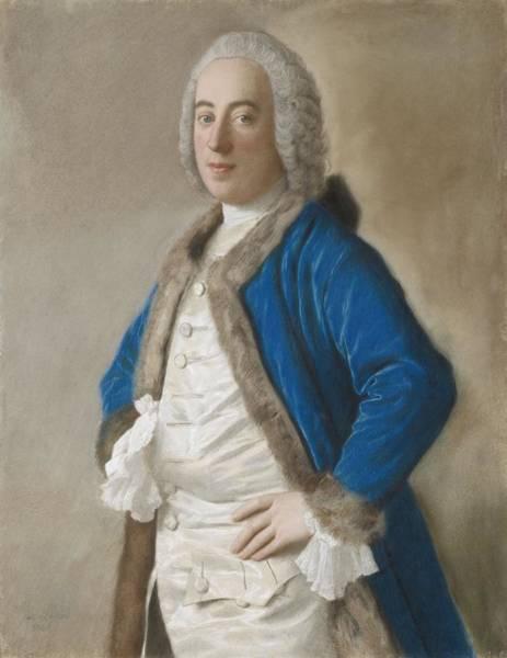 Jean Etienne Liotard Wall Art - Painting - Portrait Of Joseph Bouer, Merchant Of Genoa, Jean-etienne Liotard, 1746 by Celestial Images