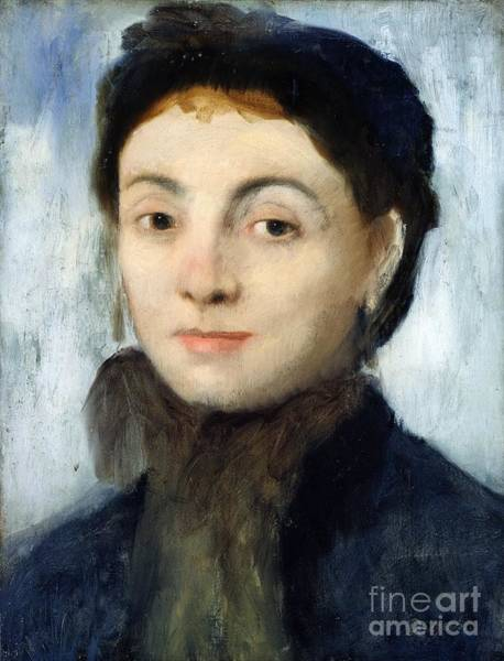 Edgar Degas Painting - Portrait Of Josephine Gaujelin by Edgar Degas