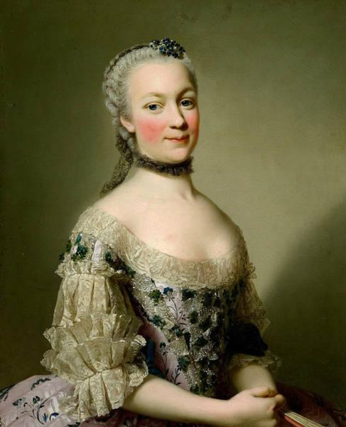 Painting - Portrait Of Katarzyny Z Zamoyskich Mniszchowej by Alexander Roslin