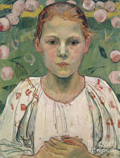 Wall Art - Painting - Portrait Of Kathe Von Bach In The Garden by Ferdinand Hodler