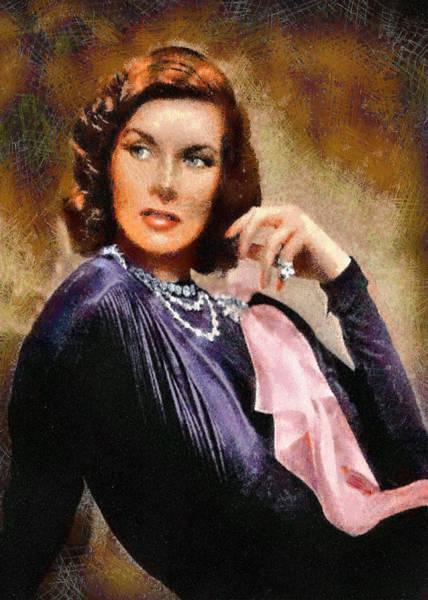 Digital Art - Portrait Of Katherine Hepburn by Charmaine Zoe