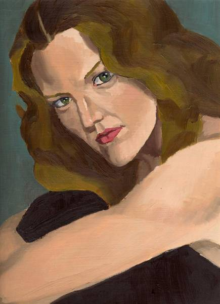 Painting - Portrait Of Kathy Arvidson by Stephen Panoushek