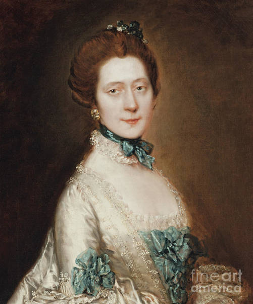 Thomas Gainsborough Wall Art - Painting - Portrait Of Lady Anne Furye by Thomas Gainsborough