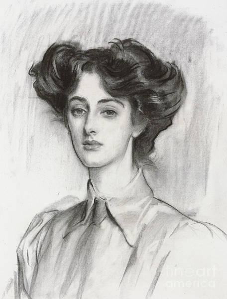 Wall Art - Pastel - Portrait Of Lady Elsie Meyer, February 1908 by John Singer Sargent