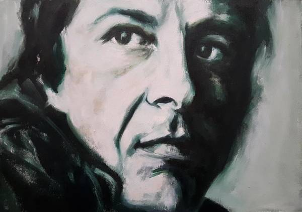 Painting - Portrait Of Leonard Cohen by Christel Roelandt