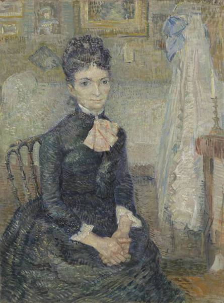 Painting - Portrait Of Leonie Rose Charbuy-davy Paris  March  April 1887 Vincent Van Gogh 1853  1890 by Artistic Panda