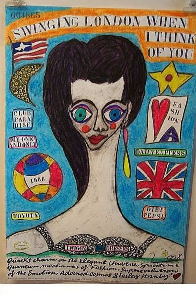 Wall Art - Painting - Portrait Of Lesley Hornby Twiggy by Francesco Martin