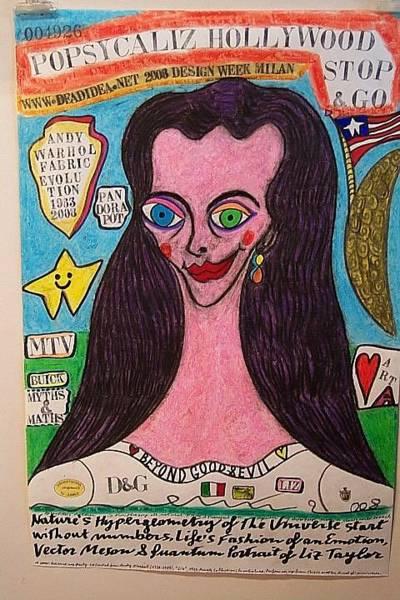 Wall Art - Painting - Portrait Of Liz Taylor by Francesco Martin