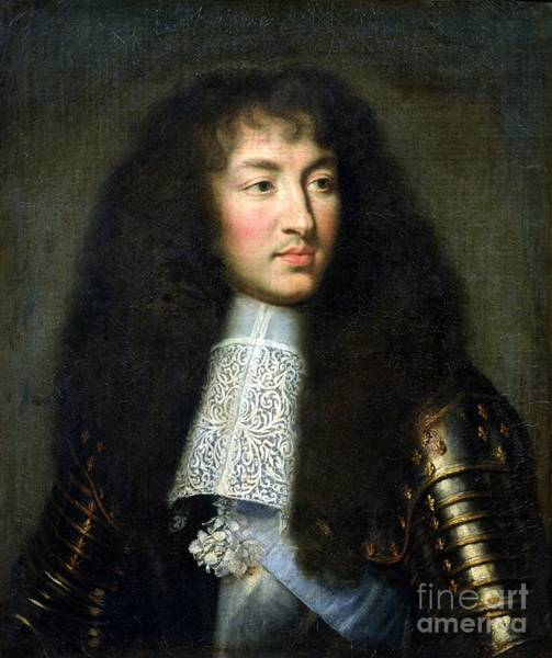 Wall Art - Painting - Portrait Of Louis Xiv by Charles Le Brun