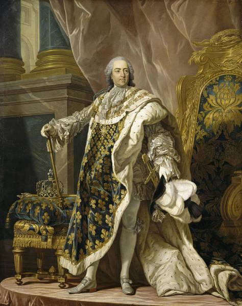 Painting - Portrait Of Louis Xv Of France by Louis-Michel van Loo