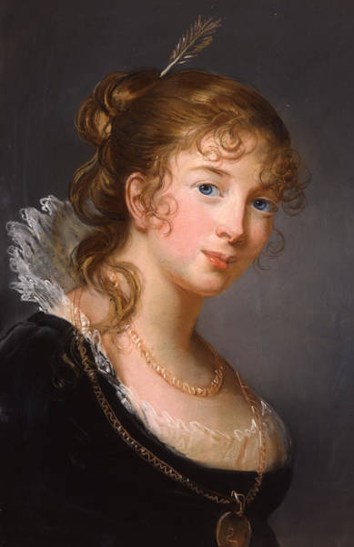 Pastel Portrait Wall Art - Painting - Portrait Of Louisa Princess Radziwill  by Elisabeth Louise Vigee-Lebrun