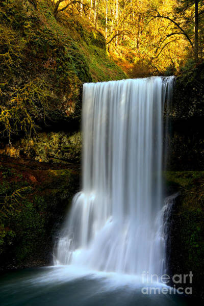 Photograph - Portrait Of Lower South Falls by Adam Jewell
