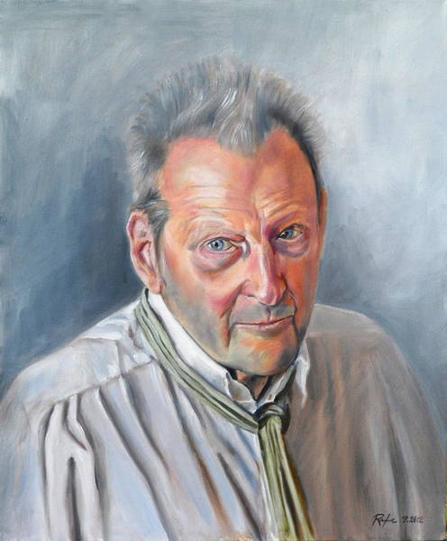 Portrait Of Lucian Freud Art Print