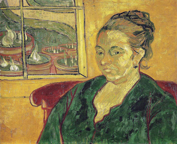 Interaction Painting - Portrait Of Madame Augustine Roulin, 1888 by Vincent Van Gogh