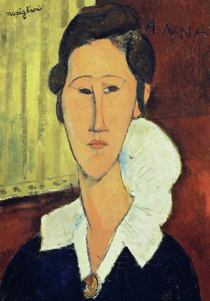 Modigliani Painting - Portrait Of Madame Hanka Zborowska, 1917 by Amedeo Modigliani