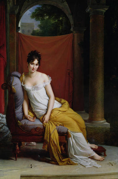 Wall Art - Painting - Portrait Of Madame Recamier by Francois Pascal Simon Gerard