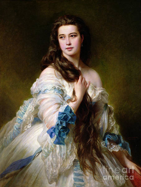 1864 Wall Art - Painting - Portrait Of Madame Rimsky Korsakov by Franz Xaver Winterhalter