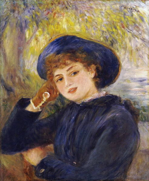 Camomile Painting - Portrait Of Madamoiselle Demarsy by Auguste Renoir