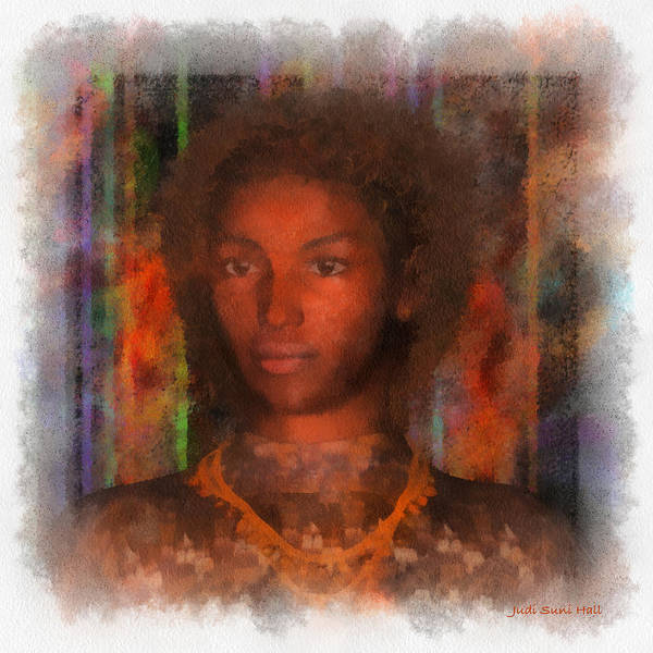 Digital Art - Portrait Of Maillie by Judi Suni Hall