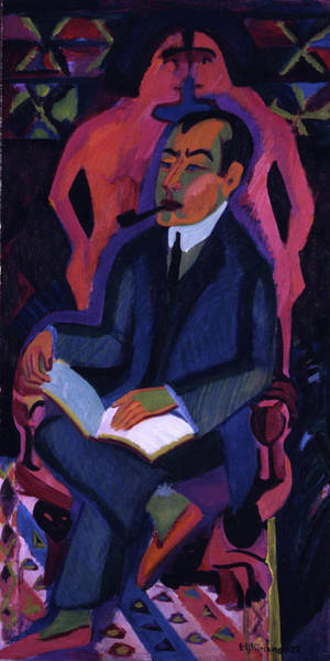 Painting - Portrait Of Manfred Schames By Ernst Ludwig Kirchner 1925 by Ernst Ludwig Kirchner