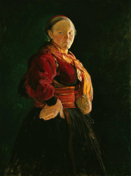 Painting - Portrait Of Mari Clasen by Halfdan Egedius