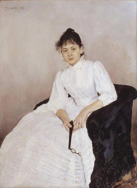 Bridesmaids Painting - Portrait Of Maria F. Jakuntjikova   by Valentin Serov