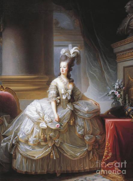 Wall Art - Painting - Portrait Of Marie Antoinette by Elisabeth Louise Vigee-Lebrun