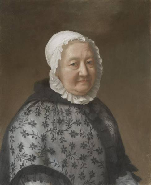 Jean Etienne Liotard Wall Art - Painting - Portrait Of Marie-congnard Batailhy, Grandmother Of The Wife Of The Artist, Known As  La Dame Aux De by Celestial Images