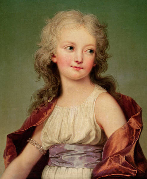 Rosy Wall Art - Painting - Portrait Of Marie-therese Charlotte Of France by Adolf Ulrich Wertmuller
