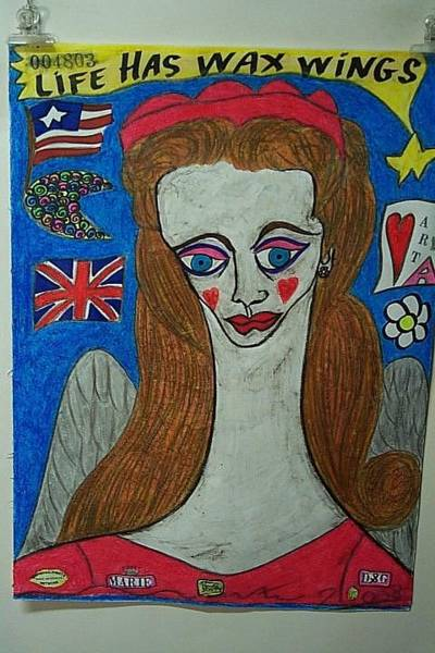 Wall Art - Painting - Portrait Of Marie Tussaud by Francesco Martin