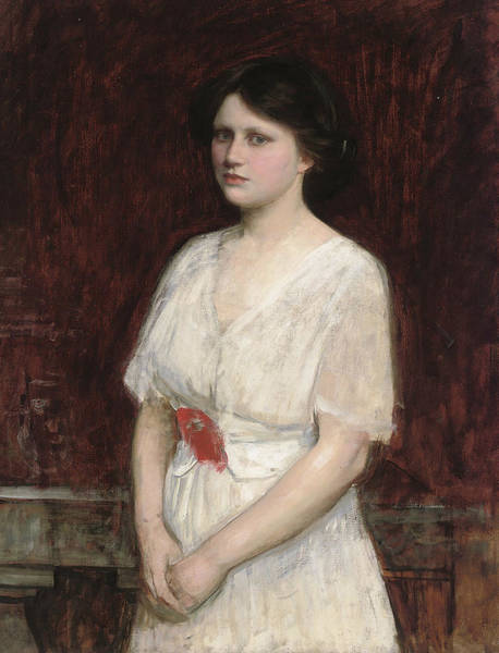 Wall Art - Painting - Portrait Of Miss Claire Kenworthy by John William Waterhouse
