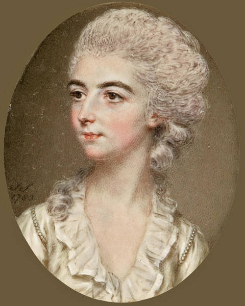Beautiful Park Drawing - Portrait Of Miss Frances Gore Of Tring Park Later Mrs Francis Willock by John Smart