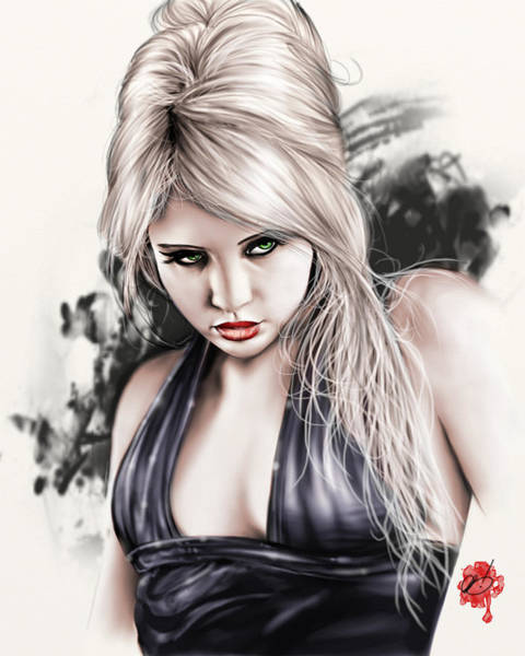 Painting - Portrait Of Miss Mosh by Pete Tapang