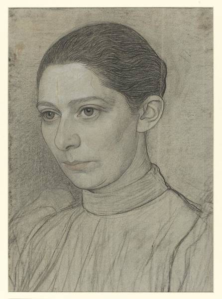 Sara Painting - Portrait Of Miss. Sara The Black, Jan Veth, 1874 - 1925 by Celestial Images
