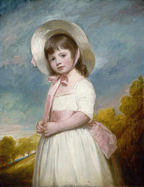 Romney Painting - Portrait Of Miss Willoughby by George Romney