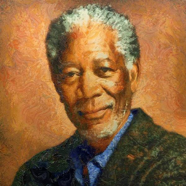 Portrait Of Morgan Freeman Art Print