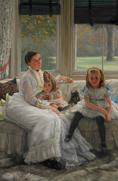 Painting - Portrait Of Mrs Catherine Smith Gill And Two Of Her Children by James Tissot